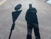 Shadow of a man Stock Image