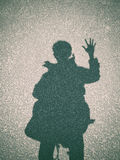Shadow of a man on street concrete background Stock Photo