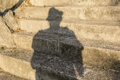 Shadow man Stock Photography