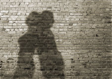 Shadow of the man and the woman Royalty Free Stock Image