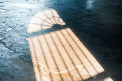 Shadow on the marble floor Stock Photography