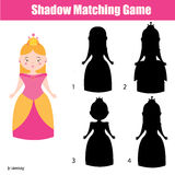Shadow matching game Royalty Free Stock Photography