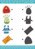 Shadow Matching Game (7). Draw a line from each object to its matching shadow Royalty Free Stock Image