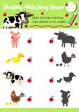 Shadow matching game farm animal