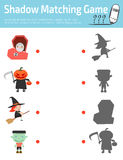 Shadow Matching Game for kids,Connect the dots picture,Education Vector Illustration. Stock Photo