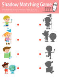Shadow Matching Game for kids,Education Vector Illustration. Shadow Matching Game for kids, Visual game for kid. Connect the dots picture,Education Vector Stock Image