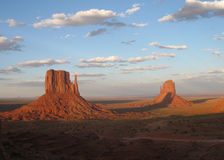 Monument Valley Arizona - Shadow of the Mittens Stock Photo