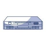 Shadow modem cartoon Stock Photos