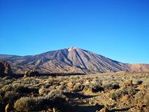 Shadow mountain teide royalty free stock image