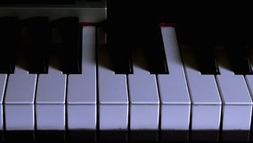 Shadow Movement on Piano Stock Photography