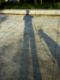 Shadow of myself Royalty Free Stock Photos
