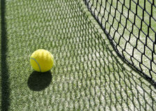 Shadow net and ball. Net shadow texture on ball Stock Photo