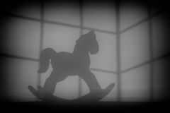 Shadow of a newborn baby horse royalty free stock photography