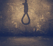 Shadow of noose Royalty Free Stock Image