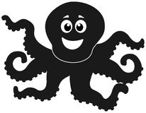 A shadow of octopus merry. Illustration Royalty Free Stock Photography