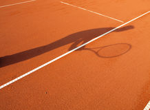 Free Shadow Of A Tennis Player Stock Image - 55120511