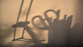 Shadow of office supplies on the wall royalty free stock photos