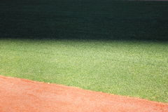 Shadow in the outfield Royalty Free Stock Photography