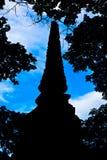 The shadow of a pagoda Stock Photos