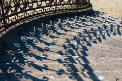 Shadow pattern. Of an outdoor stairs Stock Images