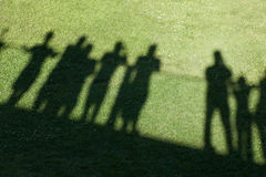 Shadow of people Royalty Free Stock Photography