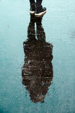 Shadow of Person on Water during Daytime Royalty Free Stock Photography