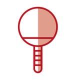 Shadow Ping pong racket Royalty Free Stock Image