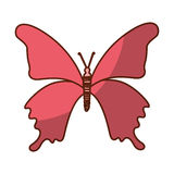 Shadow pink butterfly cartoon. Vector graphic design Stock Photography
