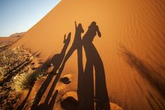 Shadow Play In The Desert Stock Photo