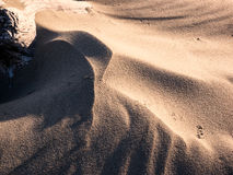 Shadow play on sand dune Royalty Free Stock Photo
