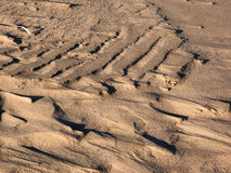 Shadow play on sand dune Stock Photos