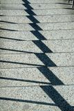 Shadow Play on Steps Stock Photo