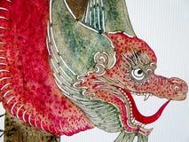 Shadow puppet dragon drawing. Beautiful dragon wayang on display inside Shanghai World Expo China Pavilion in Shanghai China stock photos