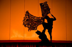 Shadow Puppet Drama, Thailand Royalty Free Stock Photos