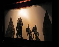 Shadow puppet show Royalty Free Stock Images