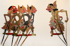 Shadow Puppet or wayang kulit Stock Image