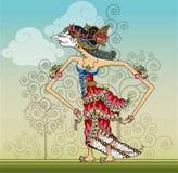 Srikandi, Shadow puppets on vector style Stock Image
