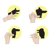 Shadow Puppets Royalty Free Stock Photo