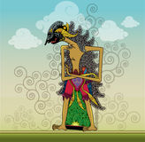 Wayang Arjuna. One puppet, while imprisoned in the forrest his name Arjuna from Mahabharata story Stock Photography