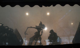 Shadow puppets stock images