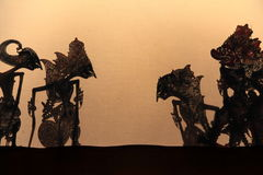 Shadow puppets. Yogyakarta royalty free stock photo