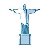 Shadow redeemer christ statue Royalty Free Stock Photos