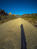 Shadow on the road Stock Images
