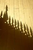 A shadow of the roof Royalty Free Stock Image