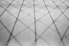 Shadow of the roof structure. Royalty Free Stock Photos