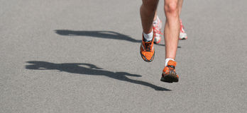Shadow runner Royalty Free Stock Photo