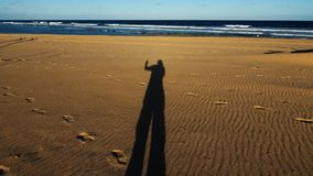 Shadow on sands Stock Photography