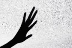Shadow scary hands. Abstract of shadow scary hands Royalty Free Stock Images