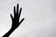 Shadow scary hands Royalty Free Stock Photo
