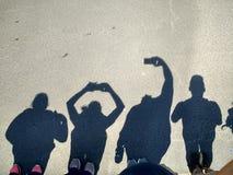 Shadow selfie stock photos